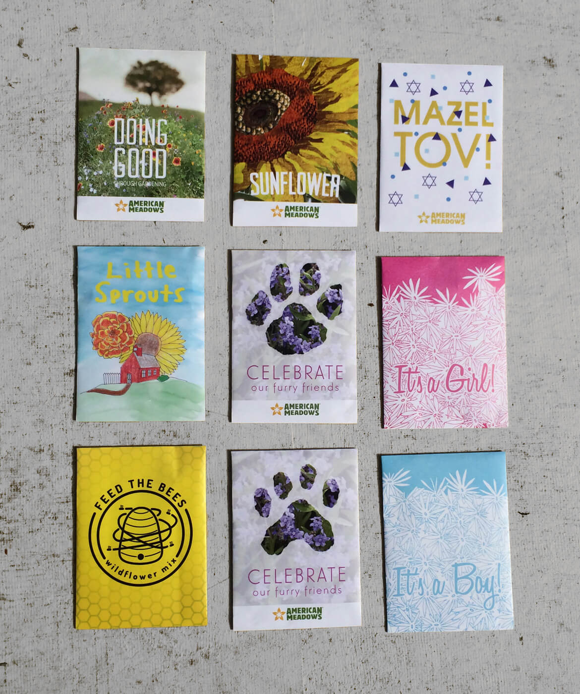 American Meadows Seed Packets Grid